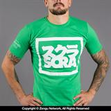 Scramble Split Logo T-Shirt - Green